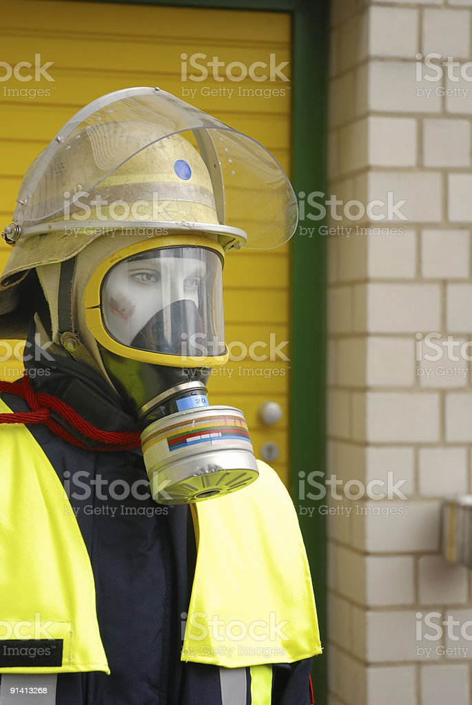 firefighter dummy close-up stock photo