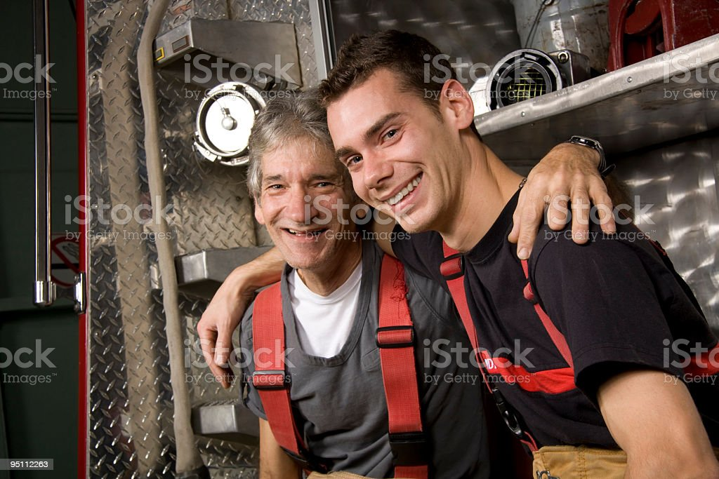 Firefighter Generation royalty-free stock photo