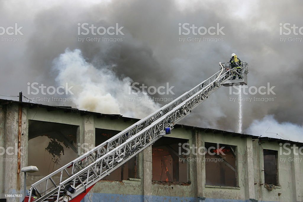 firefighter on duty #2 royalty-free stock photo