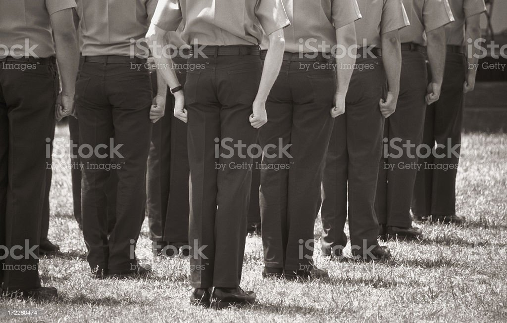 Firefighter Recruits royalty-free stock photo