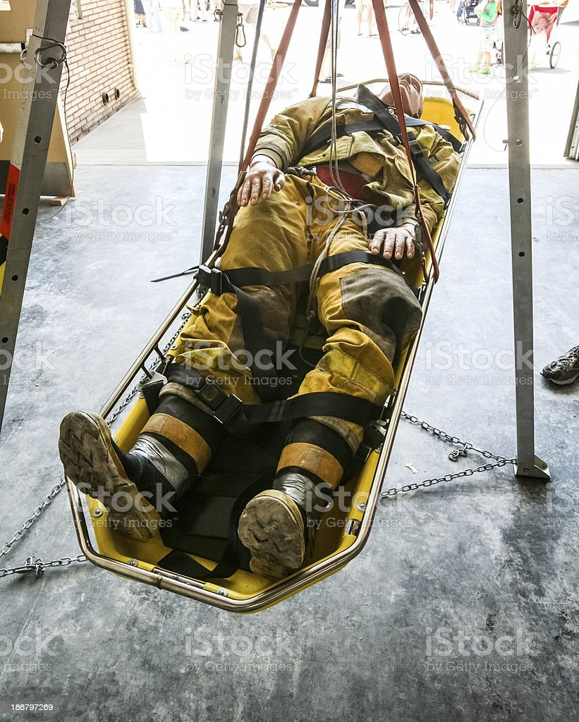 Firefighter Rescue Training Dummy royalty-free stock photo