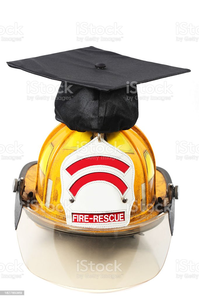 Firefighter' s graduation stock photo