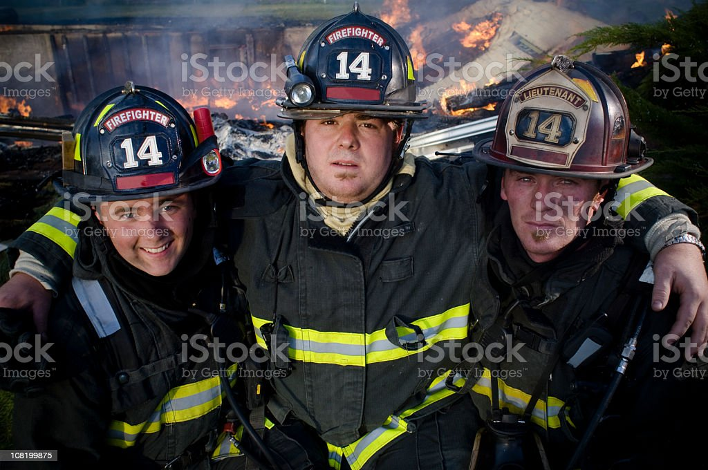 Firefighter Team royalty-free stock photo