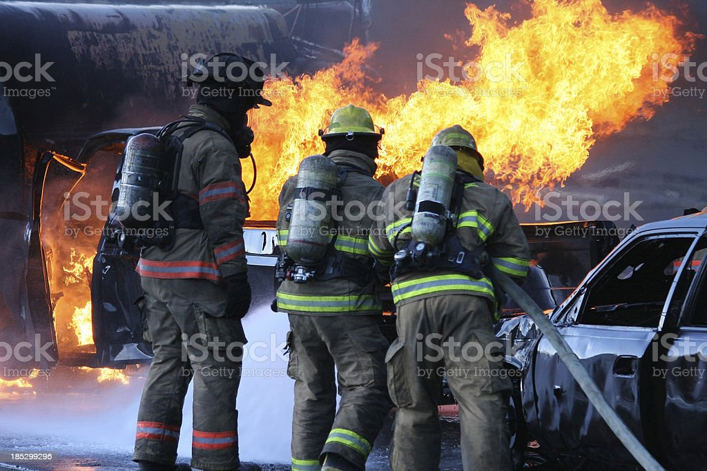 Firefighter Team stock photo