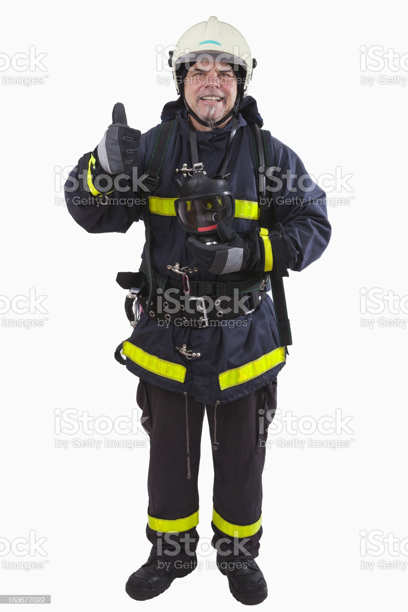 Firefighter - Thumbs Up! royalty-free stock photo