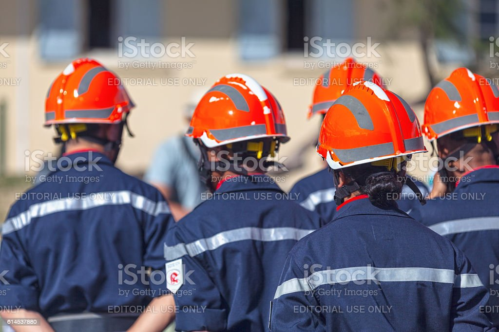 Sapeurs Pompiers during Bastille Day stock photo