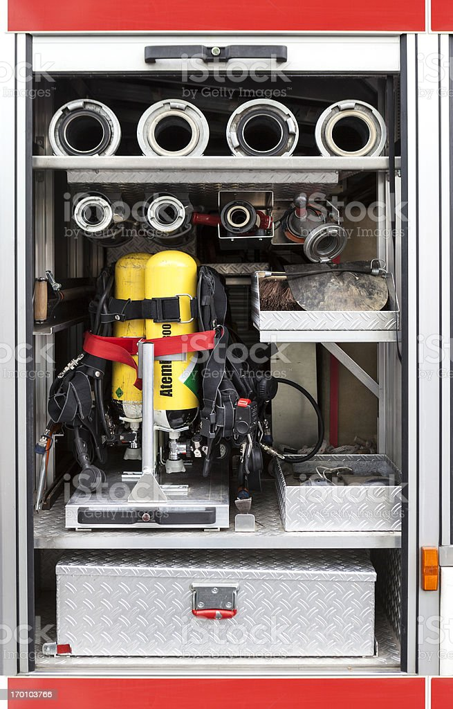 Firefighters equipment royalty-free stock photo