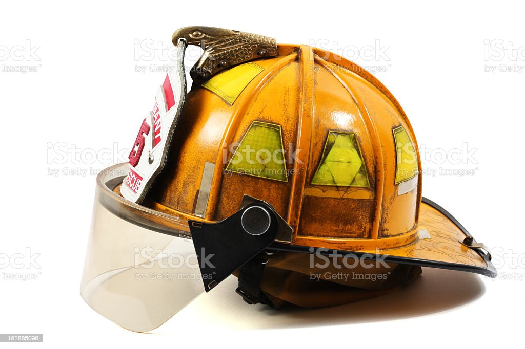 Firefighter's helmet stock photo