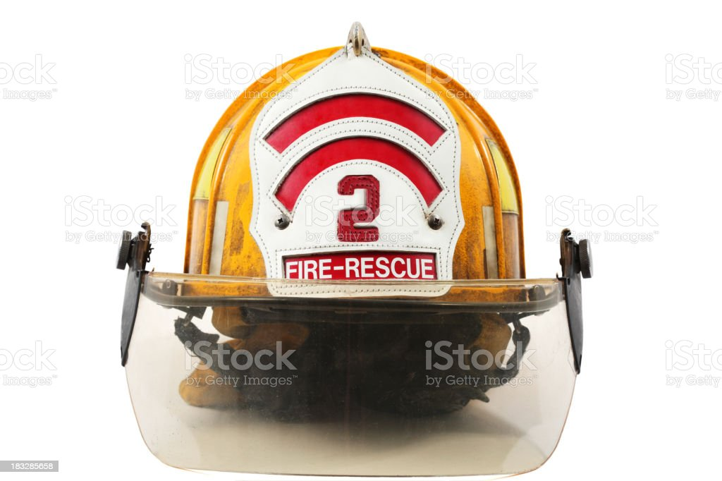 Firefighter's helmet royalty-free stock photo