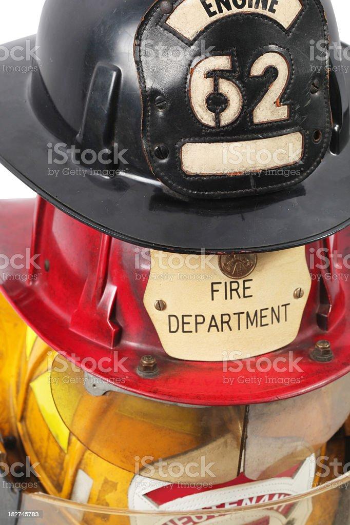 Firefighter's helmets stock photo
