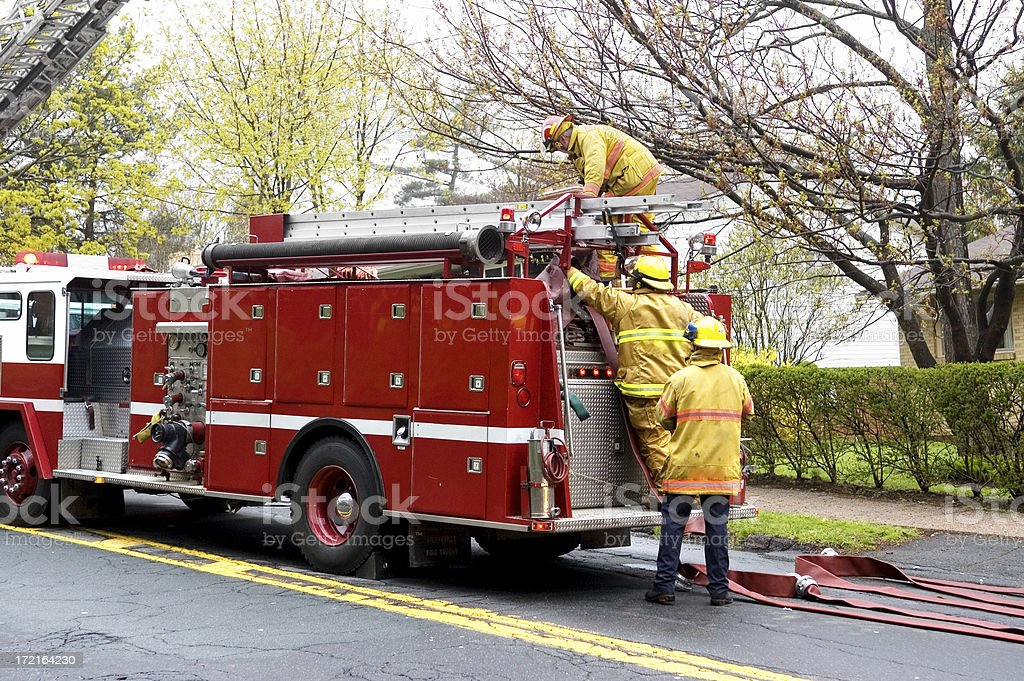 Firefighters on Scene royalty-free stock photo