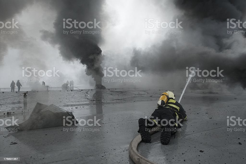 Firefighters royalty-free stock photo