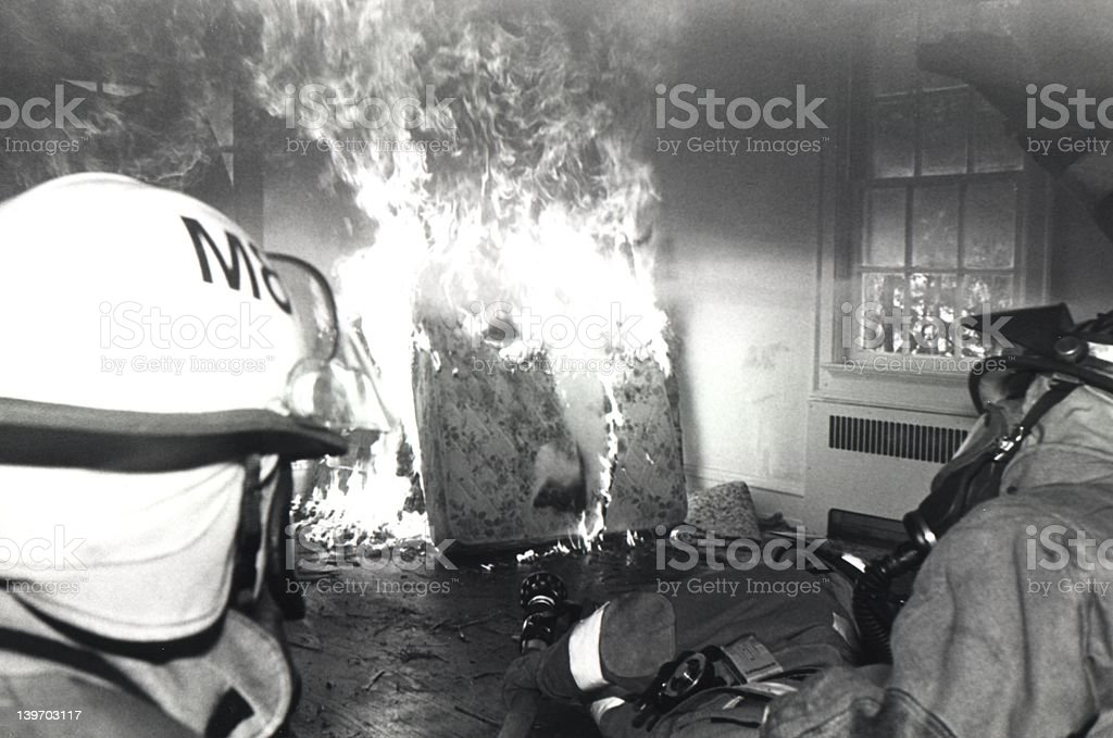 Firefighters Practicing royalty-free stock photo