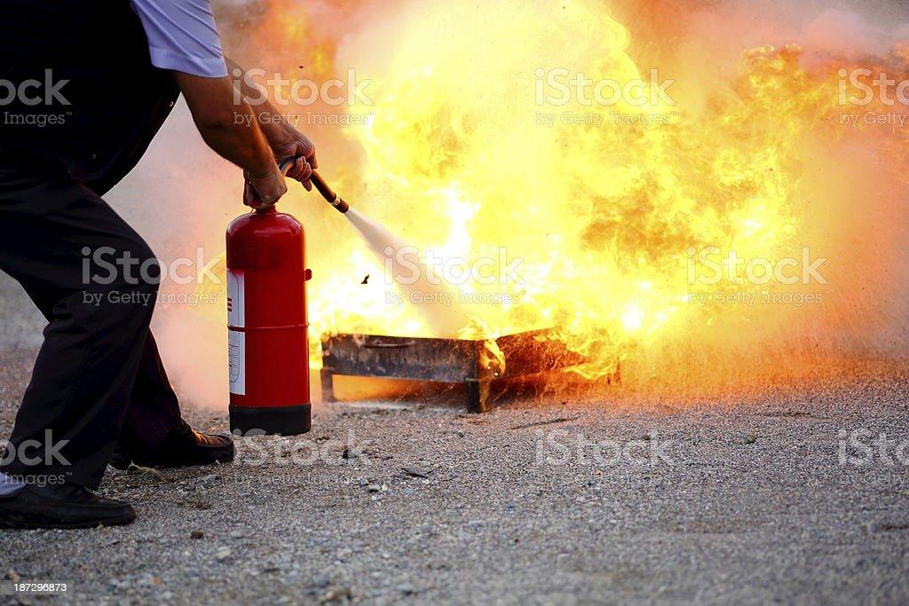 Firefighting stock photo