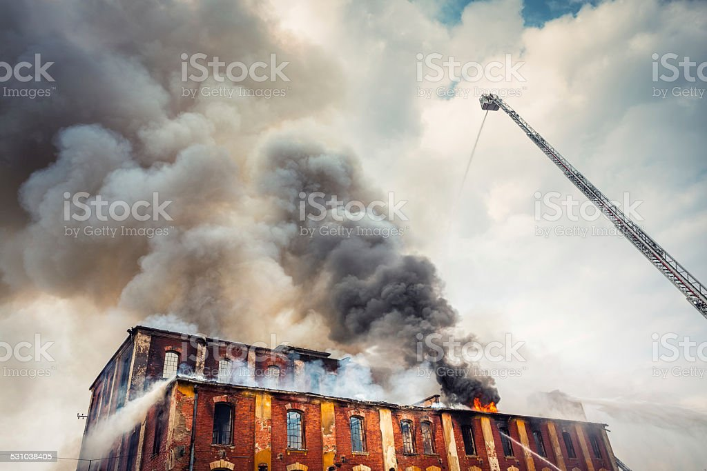 Firefighting stock photo