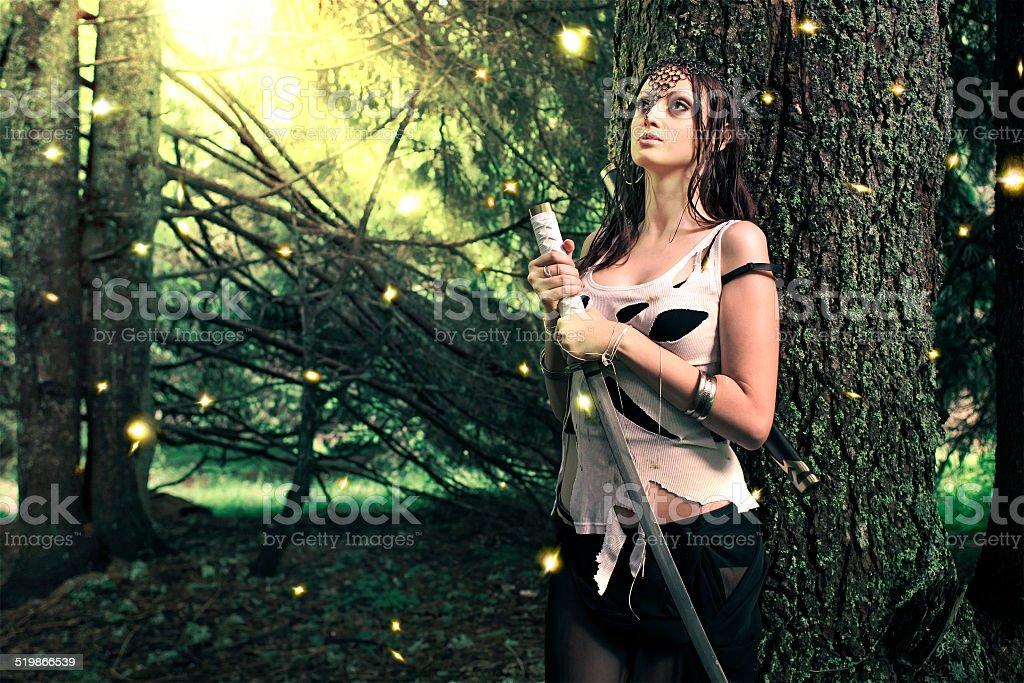 Firefly princess stock photo