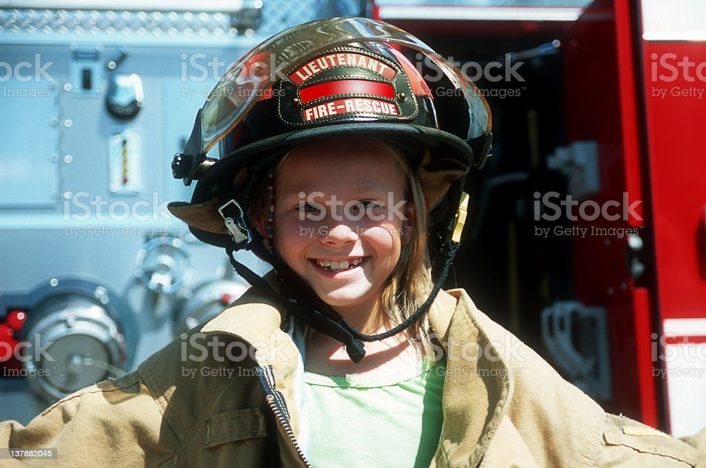 Fire-Girl stock photo