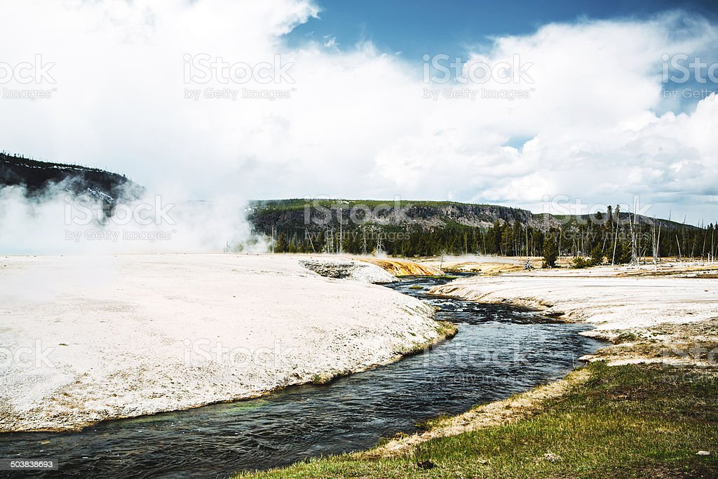 Firehole River stock photo