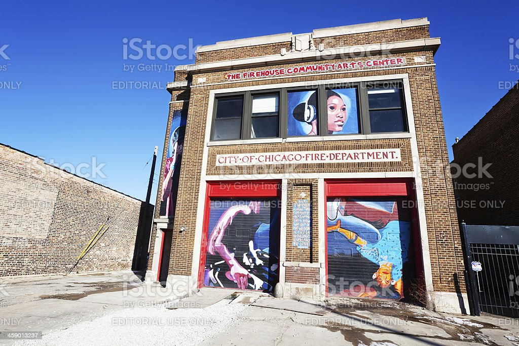 Firehouse Community Arts Center in North Lawndale, Chicago royalty-free stock photo