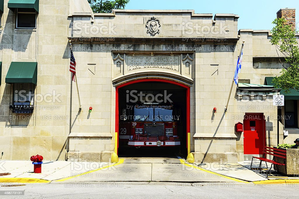 Firehouse in Bridgeport, Chicago stock photo