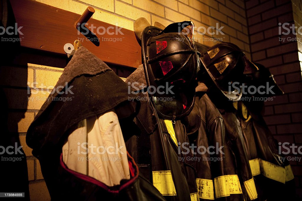 Firehouse Uniforms royalty-free stock photo