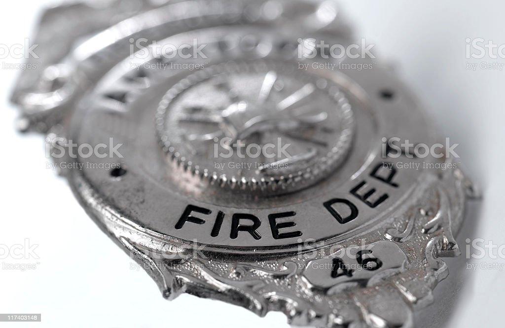 Fireman Badge royalty-free stock photo