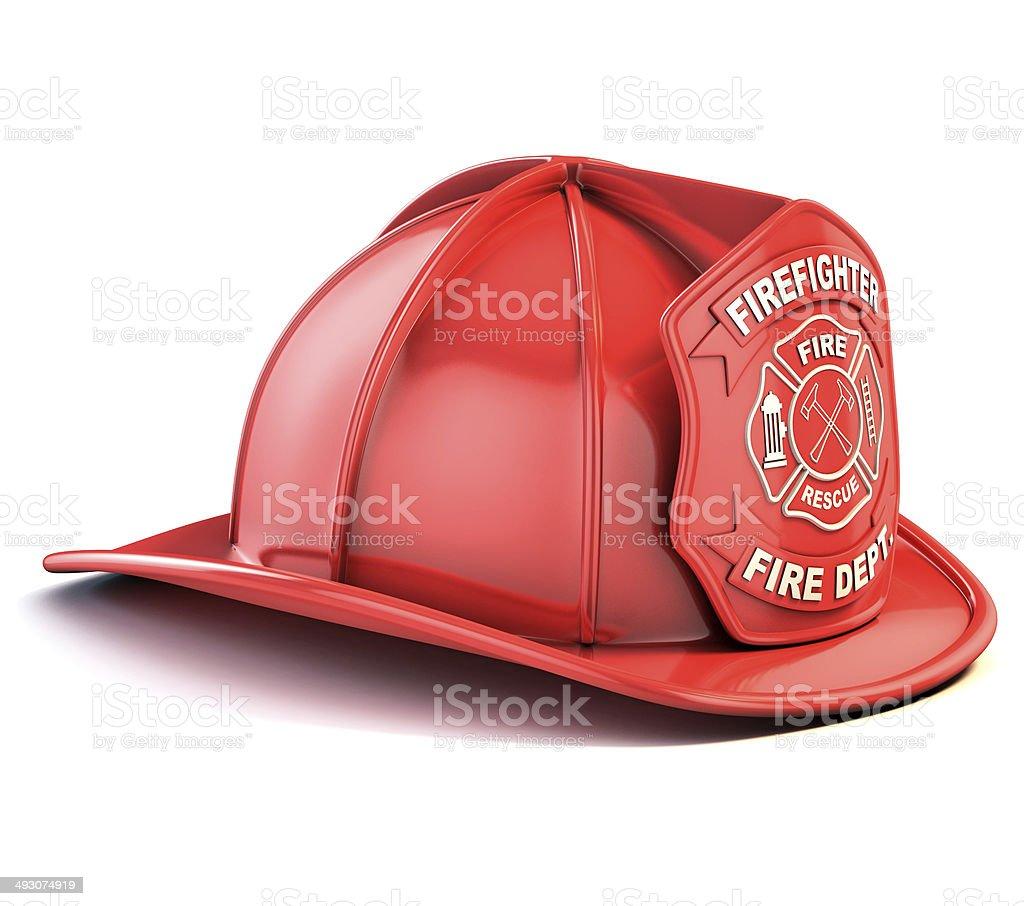 fireman helmet stock photo