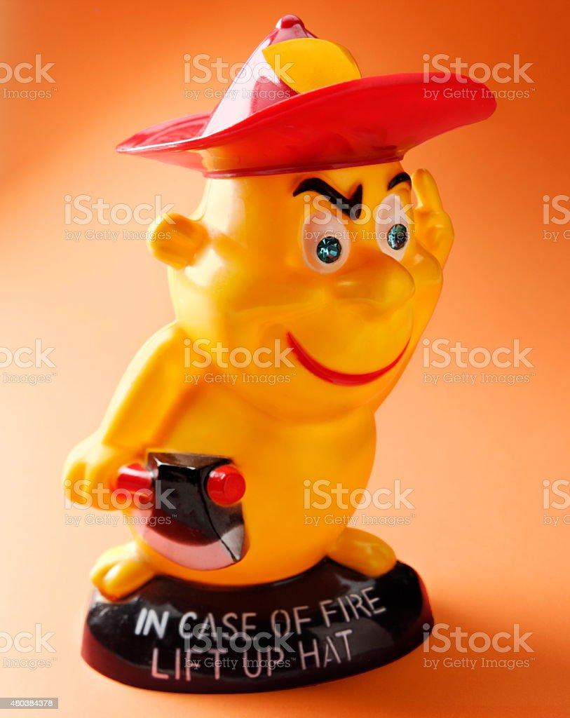 Fireman Holding Axe stock photo