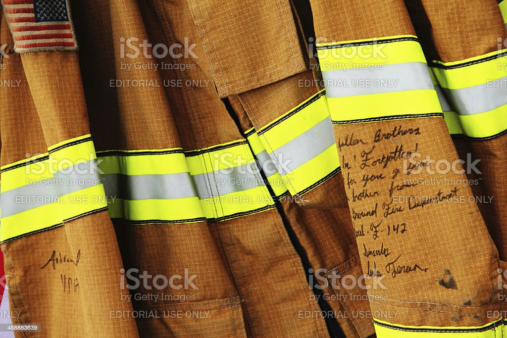 Fireman Jacket Memorial royalty-free stock photo