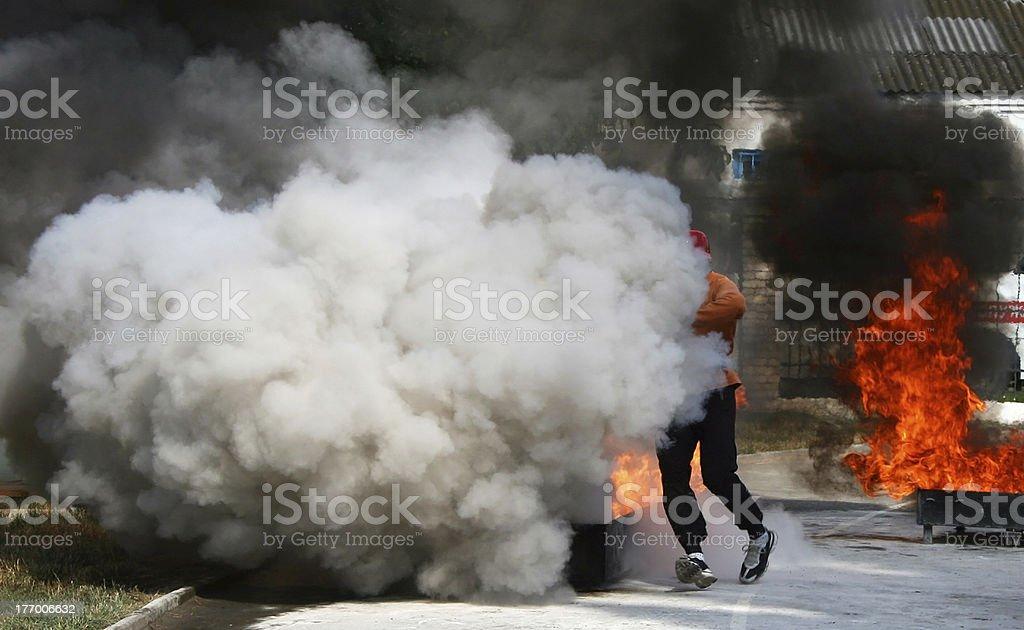 Fireman royalty-free stock photo