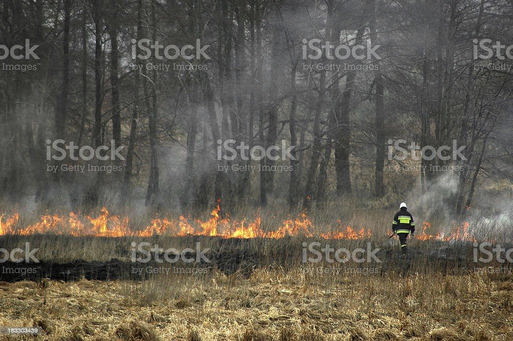 fireman stock photo