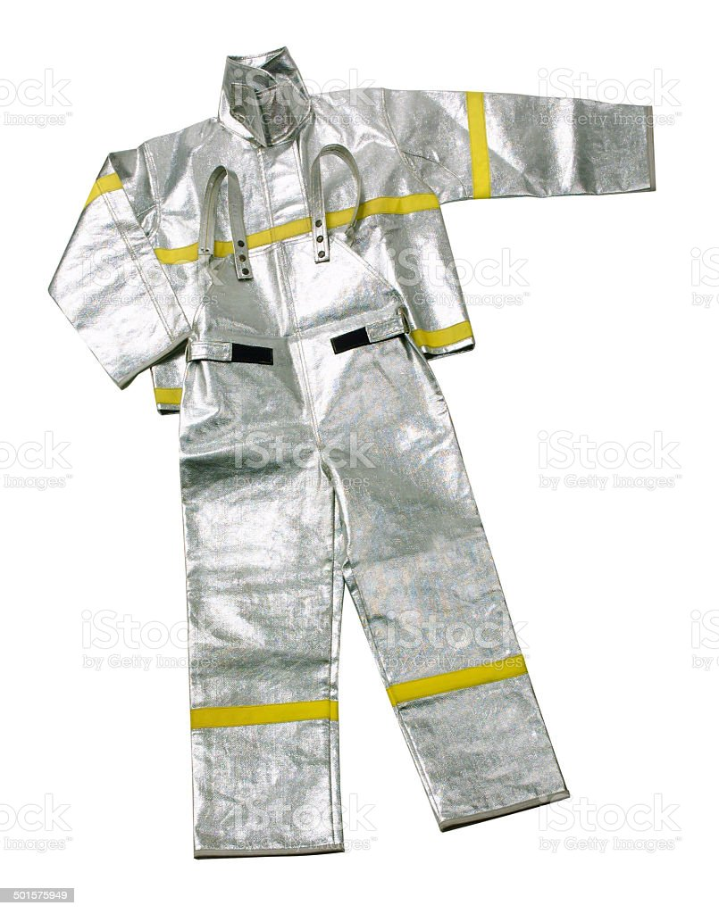 Fireman uniform isolated stock photo