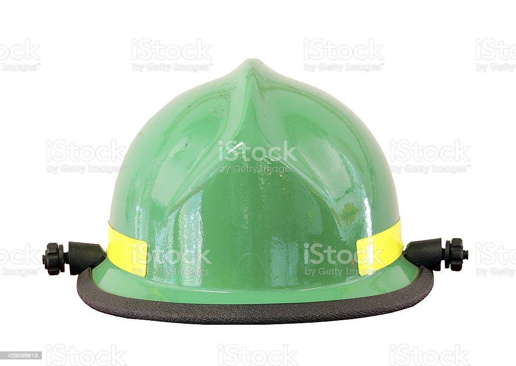 fireman's helmet isolated stock photo