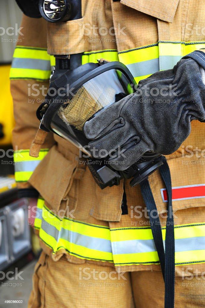Fireman's mask stock photo