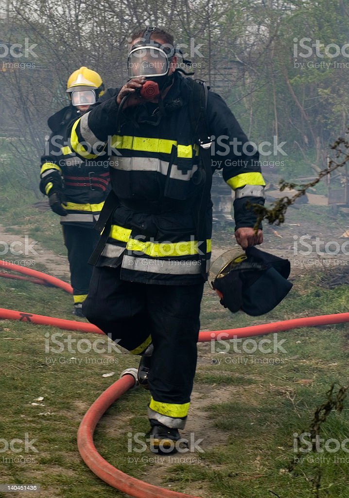 firemen royalty-free stock photo