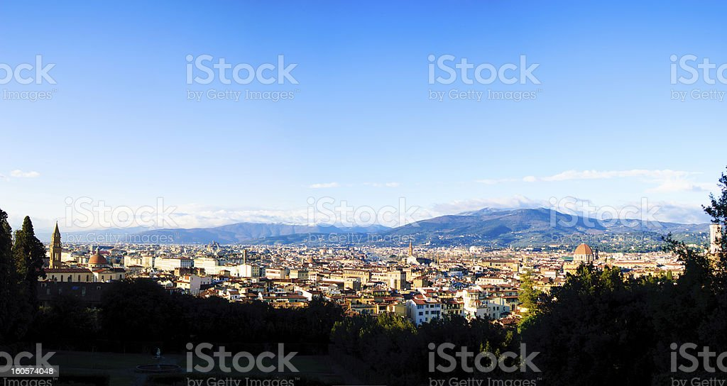 Firenze over view stock photo