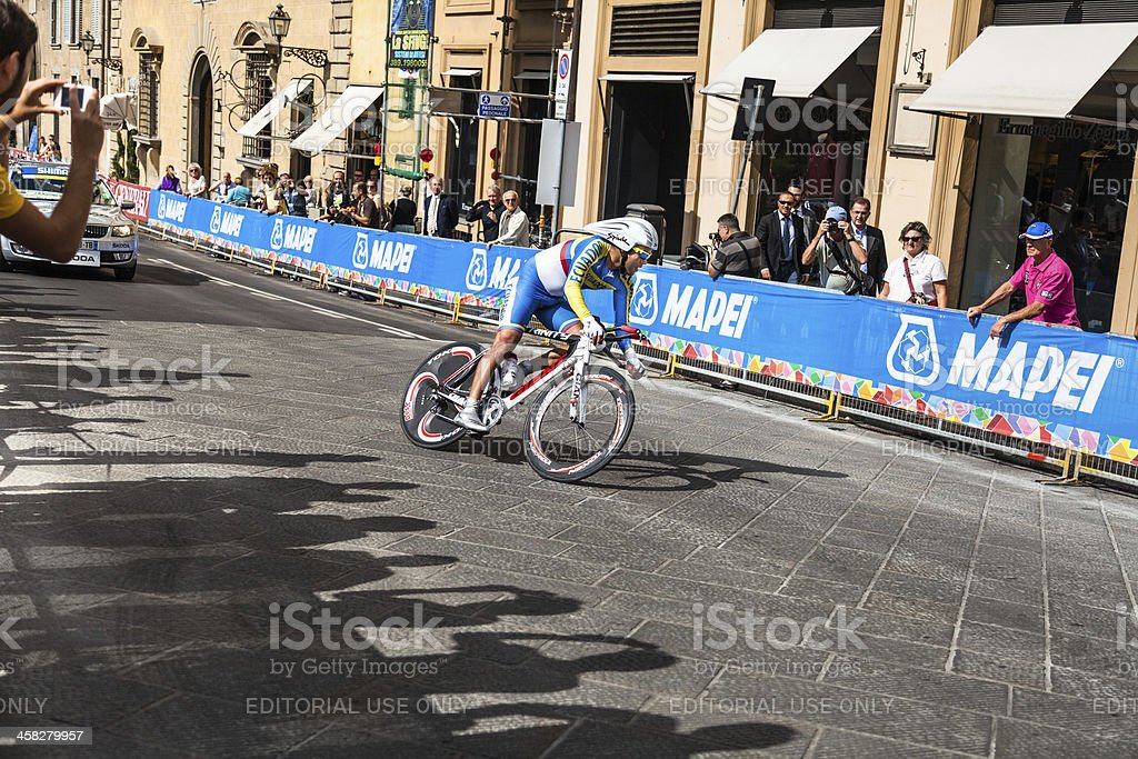 Firenze UCI World Championships road cycling Individual time trial stock photo