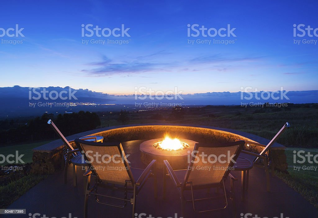 Firepit stock photo