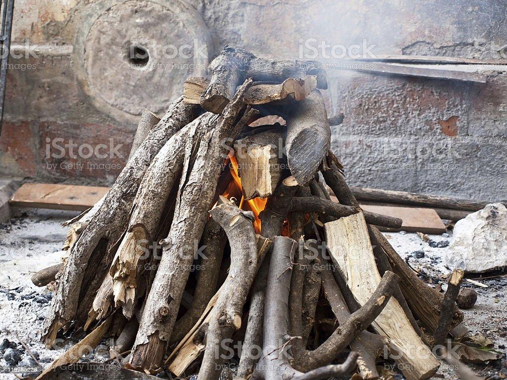 Fireplace background royalty-free stock photo