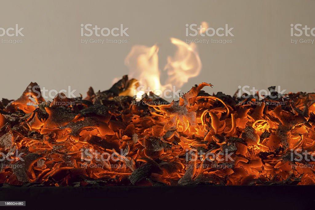 fireplace burn royalty-free stock photo