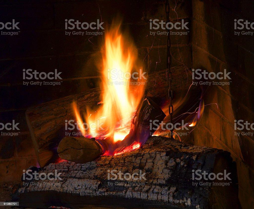 fireplace home 1 stock photo