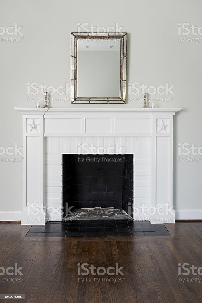 Fireplace In Living Room stock photo