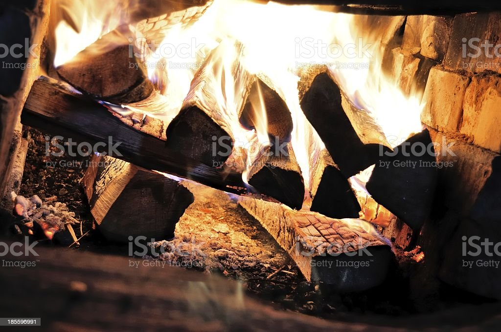 Fireplace. Russia. royalty-free stock photo