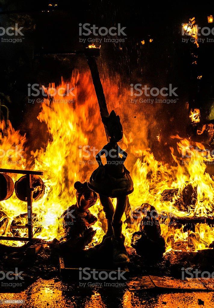Incendies de la fête Las Fallas photo libre de droits
