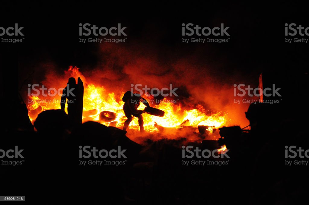 Fires of a Revolution stock photo