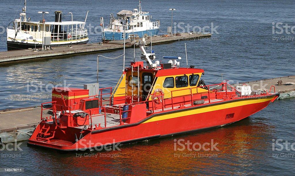 Fire-ship royalty-free stock photo