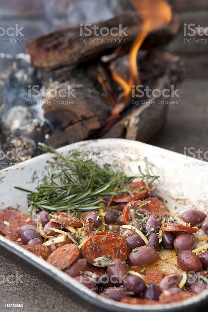 Fireside Finger Foods royalty-free stock photo