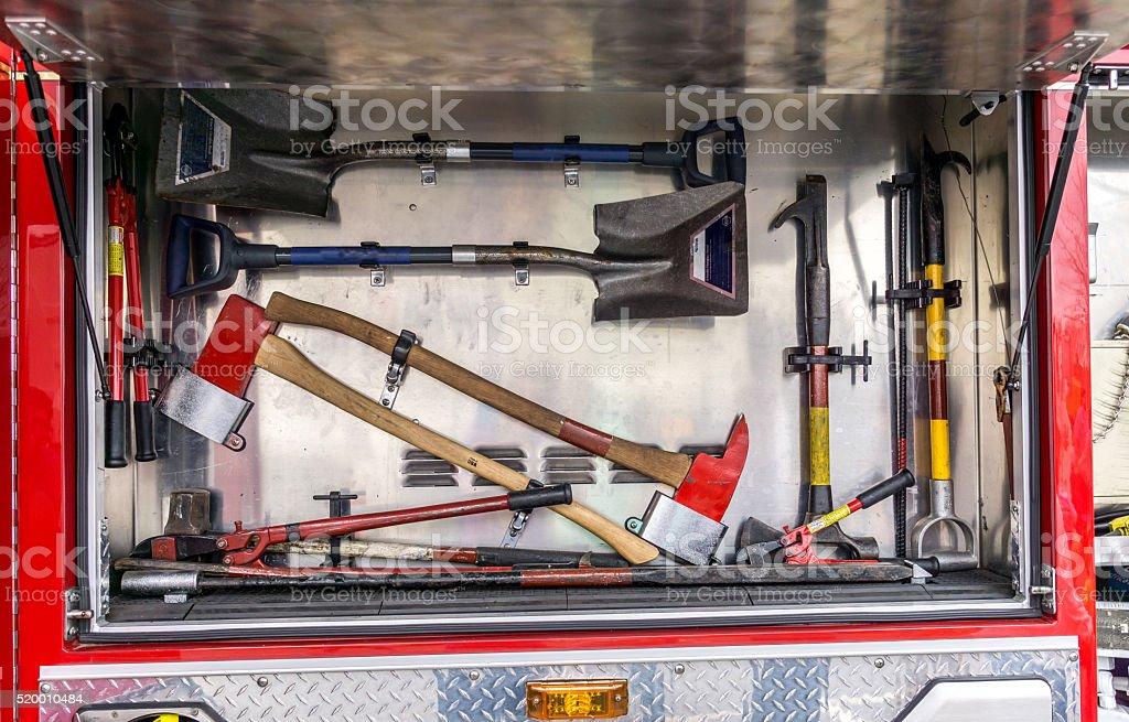 Firetruck Tools stock photo