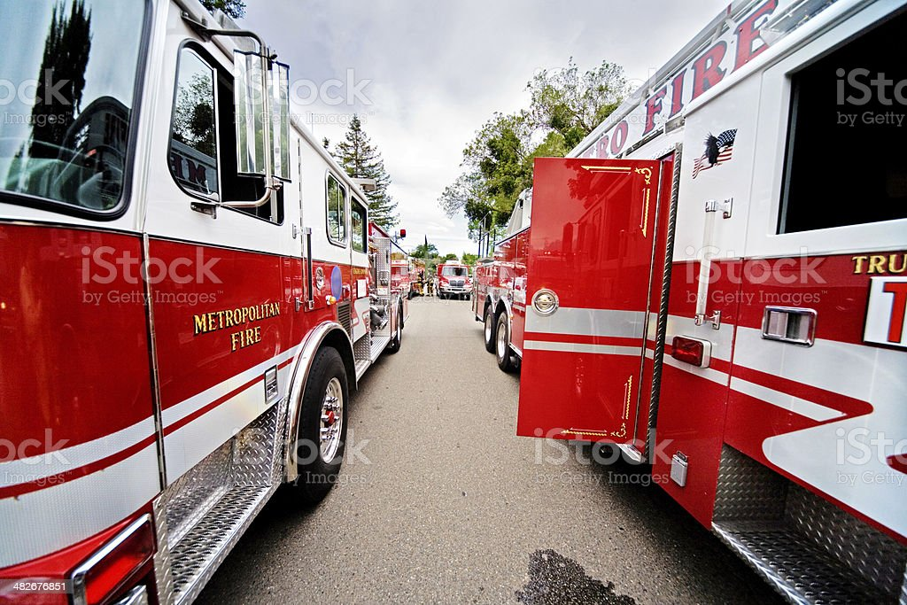 Firetrucks At The Scene royalty-free stock photo