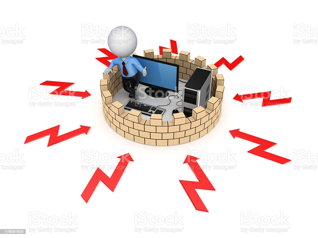 Firewall concept. royalty-free stock photo